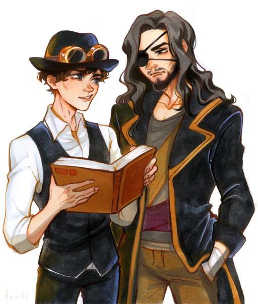 Nicholai and Kazuaki (a gift, artist unknown)
