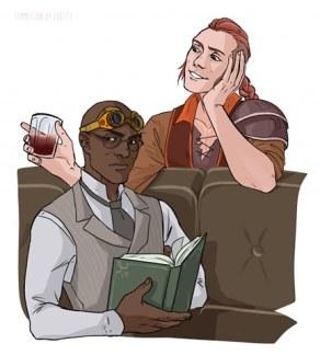 Bartholomew and Brack by cheety_art on Twitter