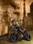 Nicholai on Rhirvin's motorbike